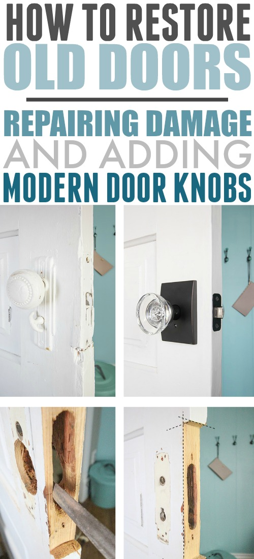 Here's how you can easily restore old doors and make them functional again by repairing damaged areas and adding modern hardware.
