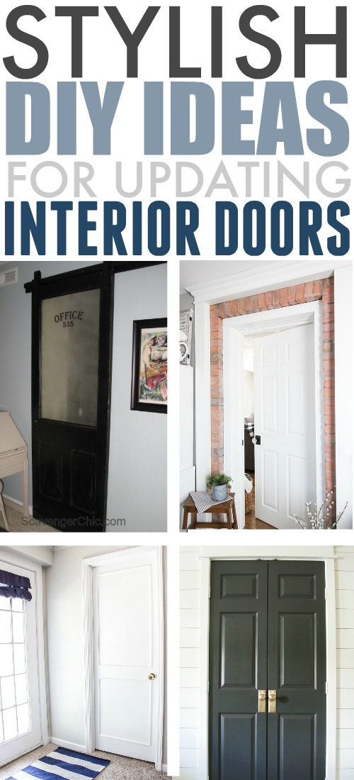 Updating the doors around your house can make a huge difference in the overall look and feel of your home. Here are some of the best, most affordable DIY ways to update interior doors!