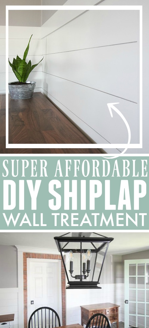 Adding shiplap to your walls gives your home an instant modern-farmhouse vibe and luckily there's a super affordable way to DIY shiplap in your own home that will fit into any home improvement budget!