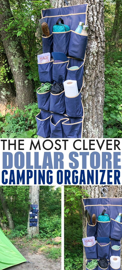 Try this super clever and affordable camping organizer idea on your next family camping trip to keep everything clean and organized!