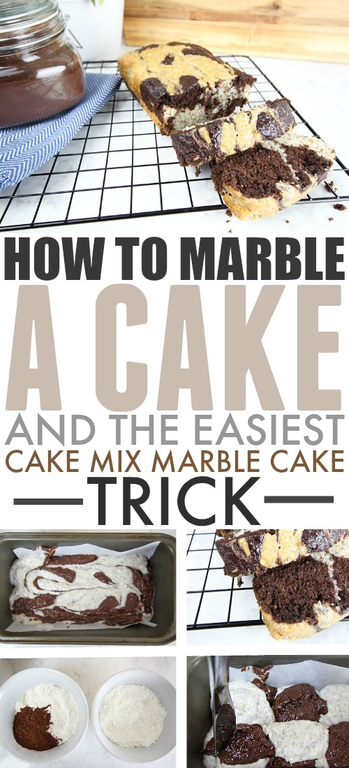 Learn how to marble a cake so you can turn any basic cake into an impressive treat perfect for guests! You'll want to marble everything you bake!
