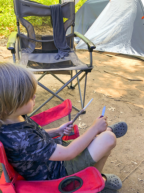 Camping Activities you Don't Have to Pack - Whittling