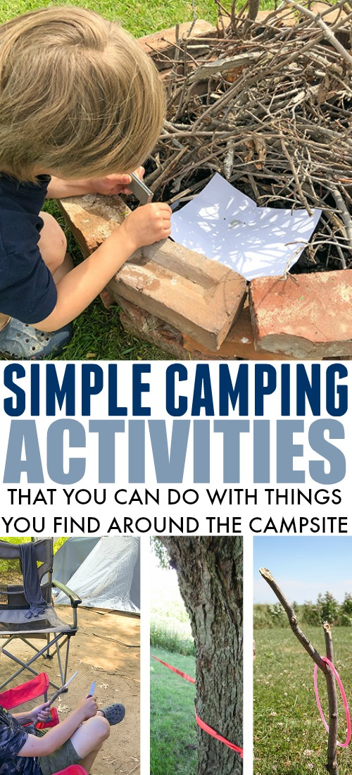 Your vehicle is probably already full when you pack it up to go camping so here are some ideas for camping activities that don't require you to pack anything else into your already bursting-at-the-seams car!
