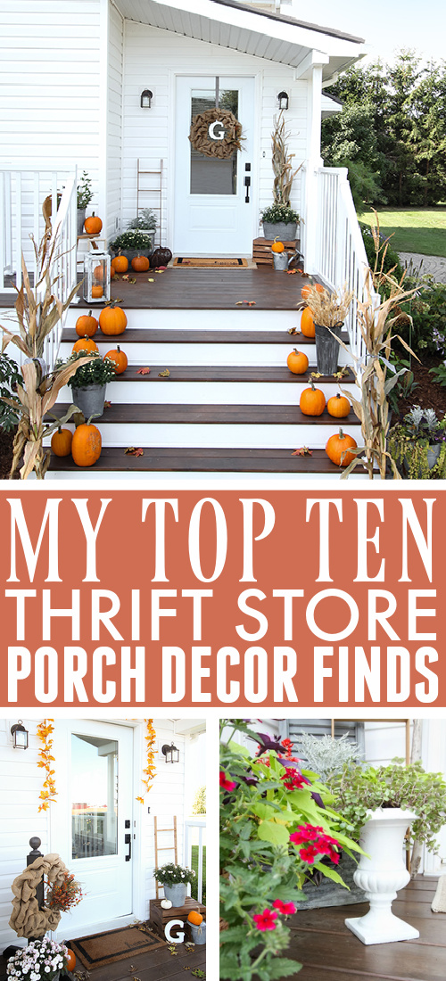 It's amazing what you can do with secondhand finds when it comes to home decor and your front porch is no exception! Here are some of my favourite thrift store porch decor finds so far!