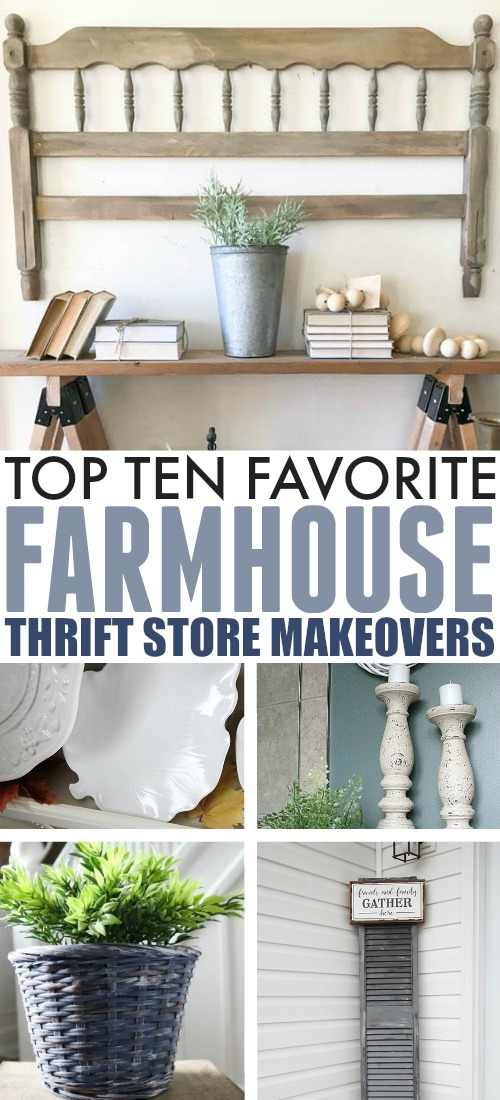 Check out these farmhouse style thrift store makeovers for inspiration before your next thrift store trip!