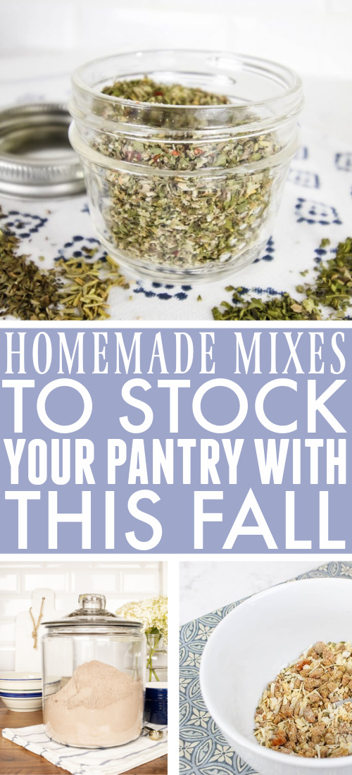 These homemade mixes that you can make-ahead and use up when you're ready for them are about as easy as it gets!