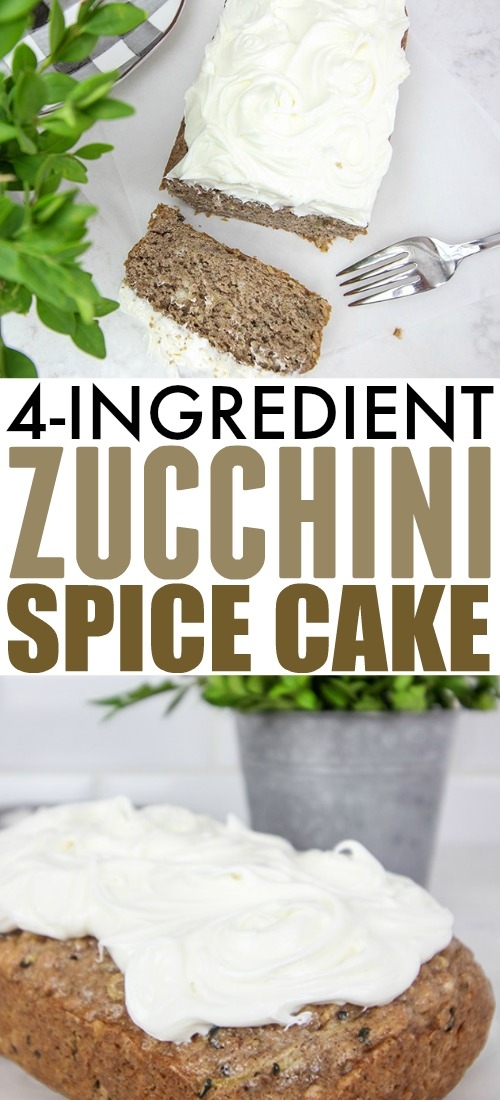 Try this extra simple zucchini spice cake the next time you have more zucchini from the garden than you know what to do with!