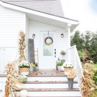 Neutral Farmhouse Fall Porch