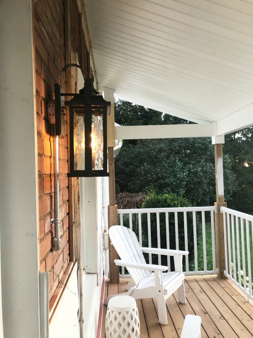 I thought it was time for a little update on our front porch progress. Here's where we're at and what we've been up to!