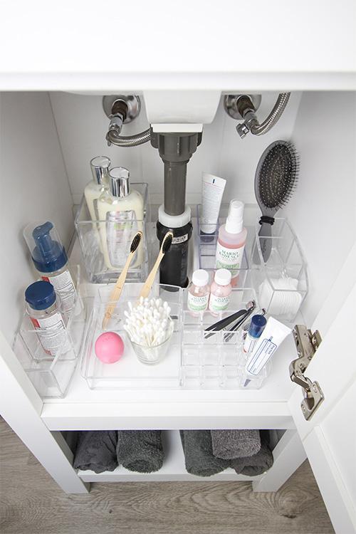 How To Organize A Tiny Bathroom Vanity The Creek Line House