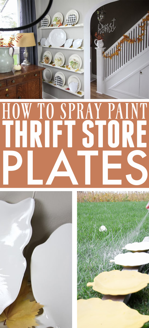 In this post I'll show you how to spray paint thrift store plates for a quick and inexpensive way to update the decor in your home.
