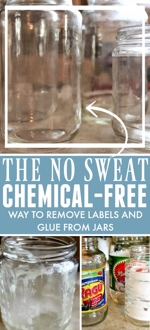 The best way to remove labels from jars! We'll show you how to remove glue from glass without using harsh chemicals so your jars will be ready for a new life!
