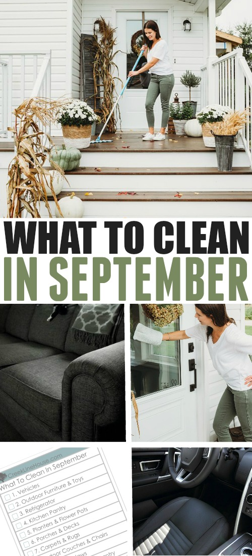 Use this list of what to clean in September as your simple guide to what jobs need to be tackled this month around the house.