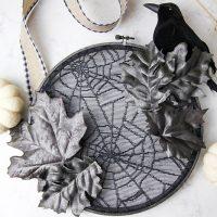Embroidery Hoop Halloween Wreath