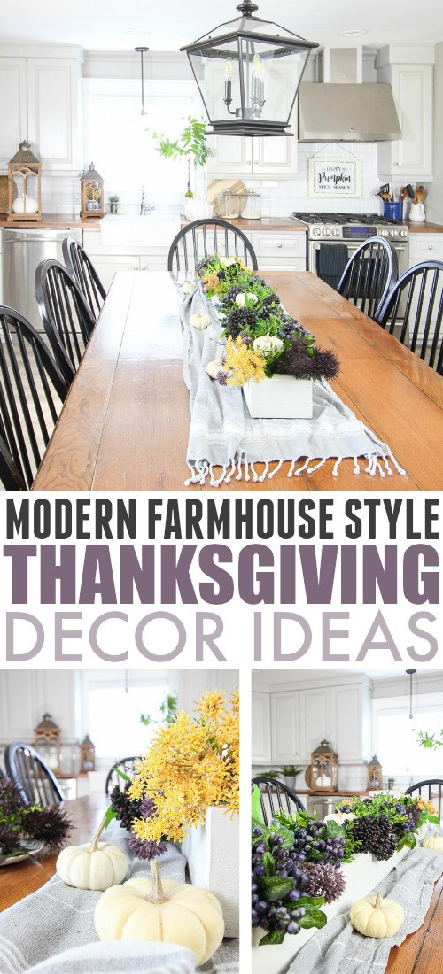 In this post I'll share details about our farmhouse style Thanksgiving table from our Canadian Thanksgiving holiday last weekend!