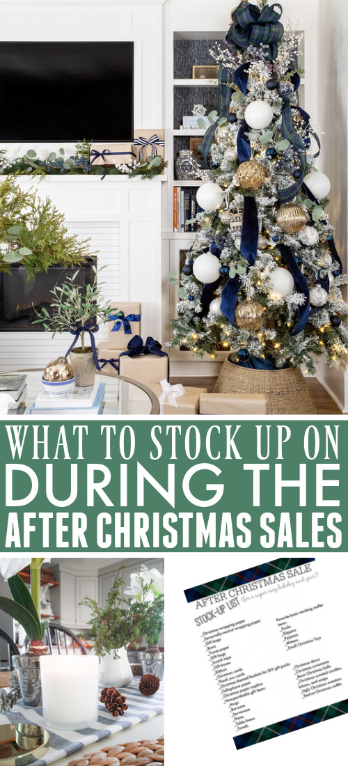 Add enjoyment to next Christmas with this after Christmas stock up list! Spend more time enjoying the holidays next year when you save money and time by stocking up on these items at this year's after Christmas sales.
