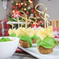 Easy Bow Tie Appetizer Idea