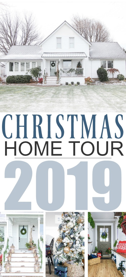 In this post I'll share some of the fun and interesting farmhouse style Christmas decor ideas that I've done this year around the house! Here's my Christmas home tour 2019!