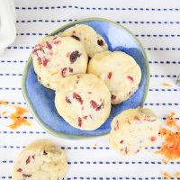Plant-Based Orange Cranberry Shortbread Cookies