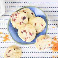 Plant-Based Orange Cranberry Shortbread Cookies