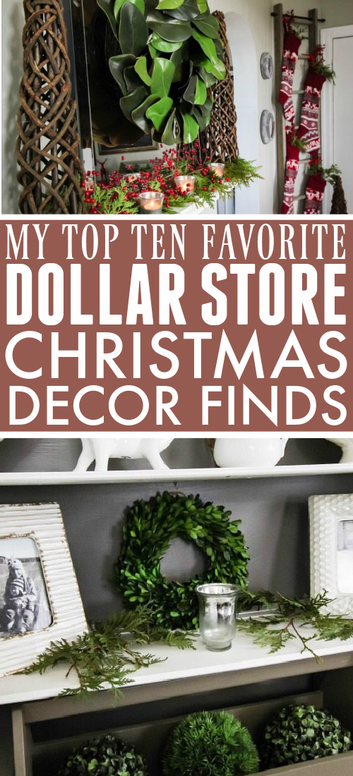 The Christmas decor options at the dollar store might seem really tacky at first, but if you look more closely, you'll see that there are some great classic pieces hidden in there that you'll use again and again! Here are some of my favourite dollar store Christmas decor finds!