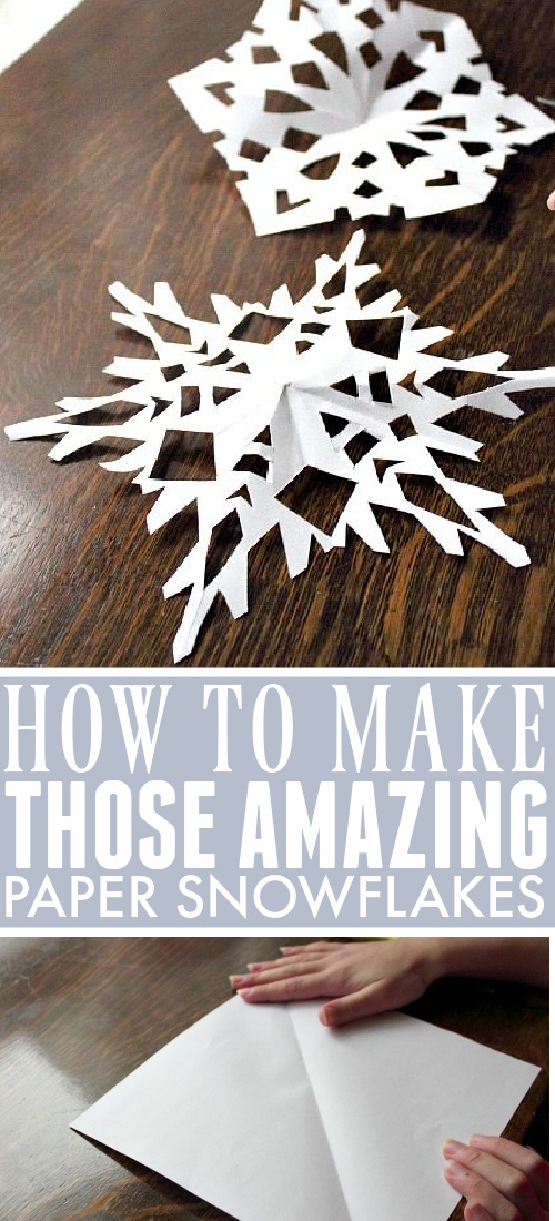 These homemade paper snowflakes are such a fun and simple craft for Christmas or winter! They're always so beautiful and impressive looking, but they're really kid-friendly too!