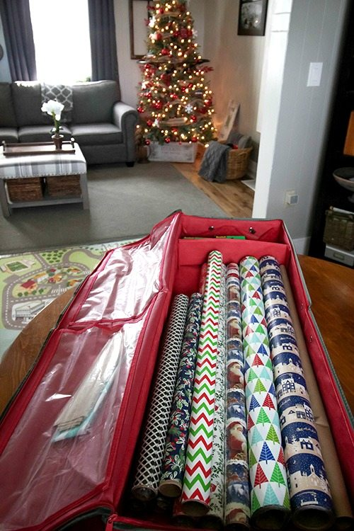 What to Clean in January: Wrapping Supplies Storage Areas