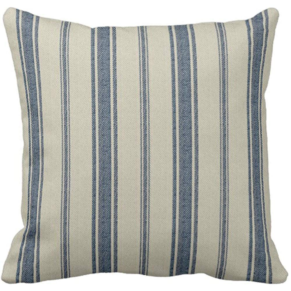 Amazon Finds: Blue and White Striped Pillow Cover