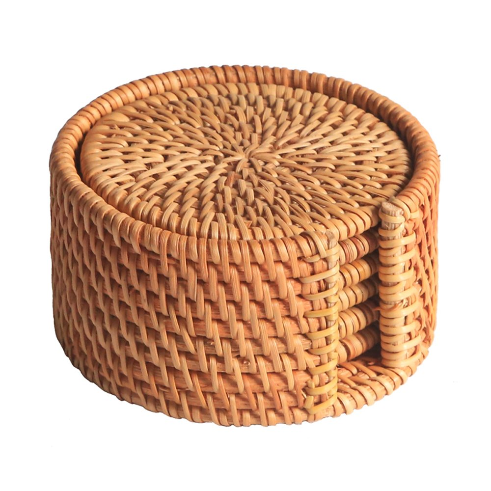Amazon Finds: Rattan coasters