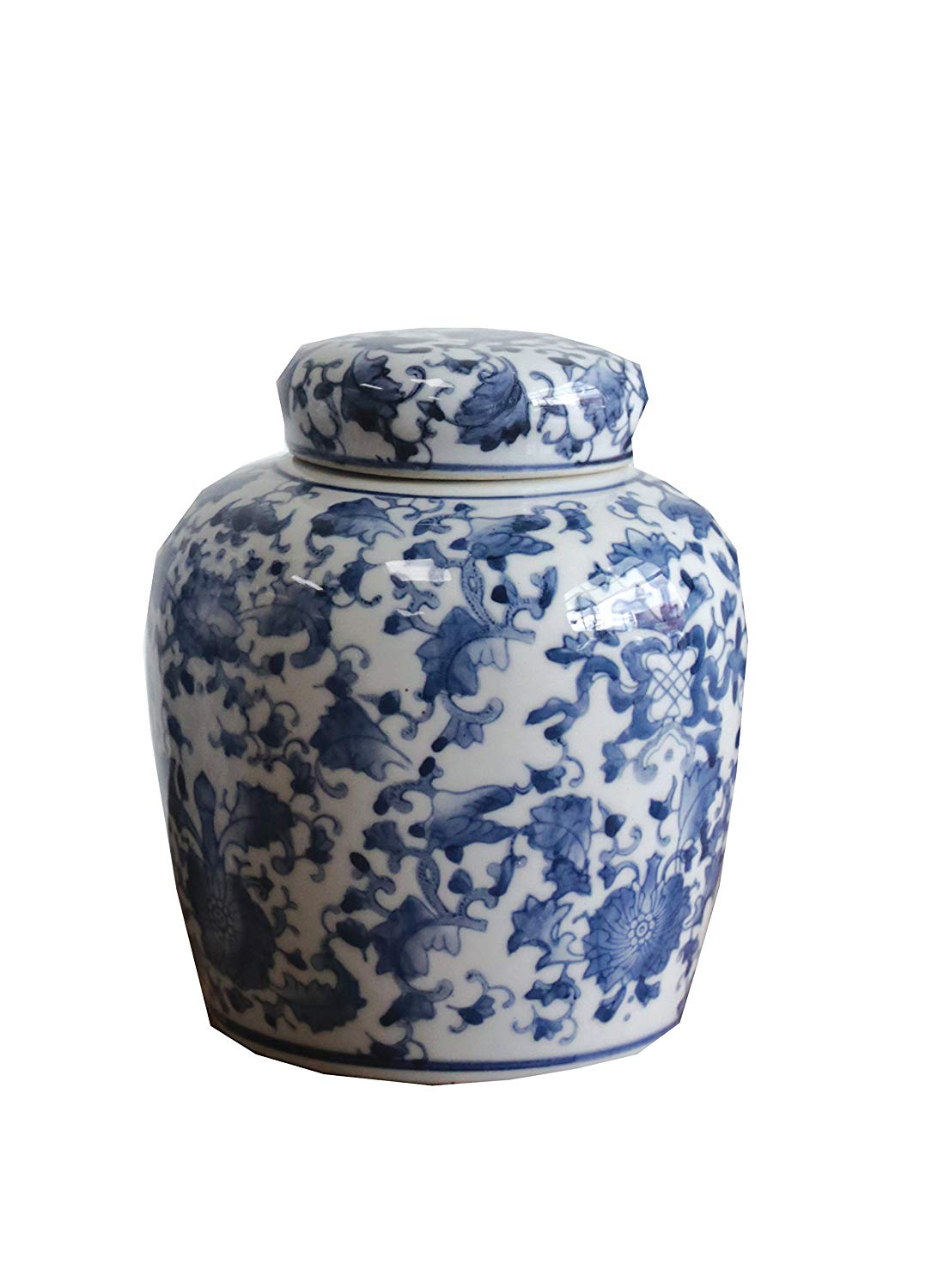 Bookshelf Styling Finds: Blue and white ginger jar