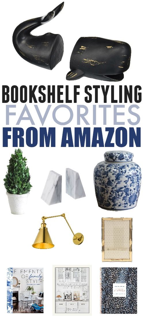 Bookshelf styling finds from Amazon