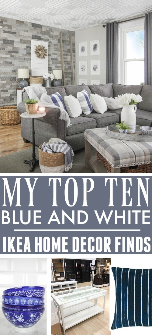 You might not think of IKEA if you're a lover of classic blue and white decor like I am, but I discovered some great things on my last trip there! Here are my favourite blue and white IKEA finds!