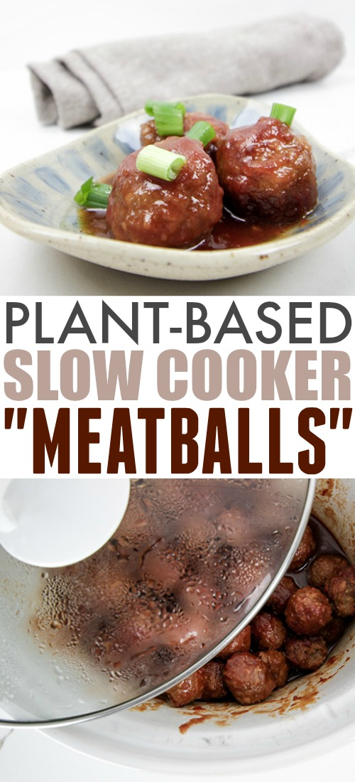 Plant-Based Slow Cooker Meatball Recipe - Only 3 Ingredients