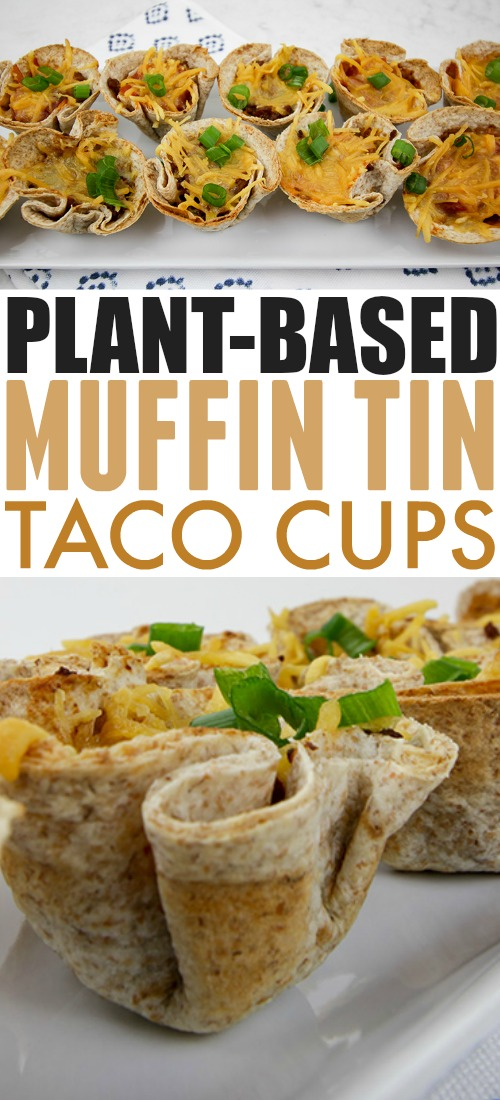 Try these muffin tin taco cups for a great game day snack or for a fun and easy dinner! Great to serve to your plant-based friends and family!