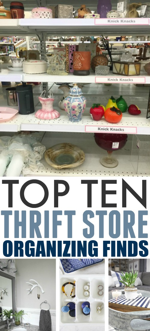 In today's post I'm going to share some of my favourite simple tricks for organizing with thrift store finds. Sometimes you find the best solutions in the most unexpected places!