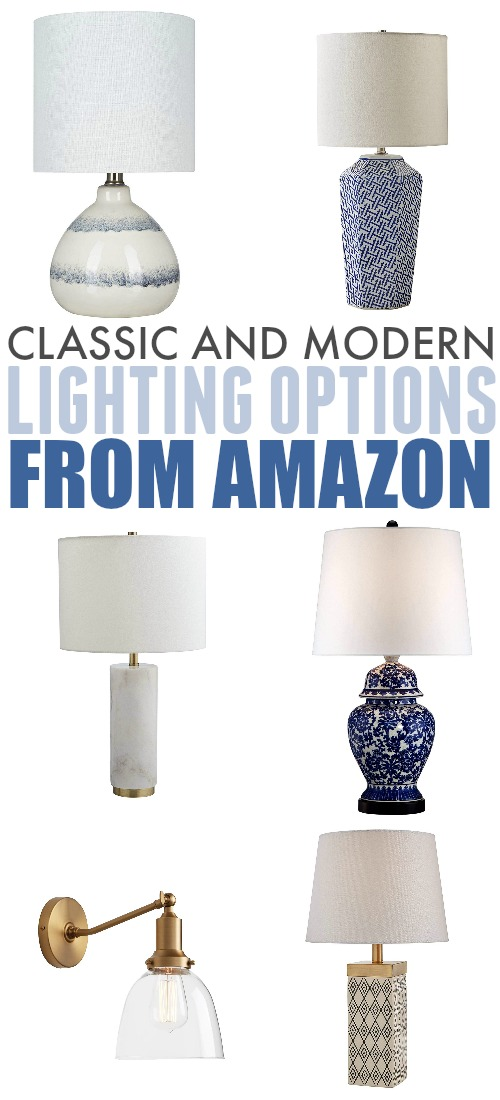 In today's post I'll share some of the really great classic and modern lighting options from Amazon that I stumbled upon recently.