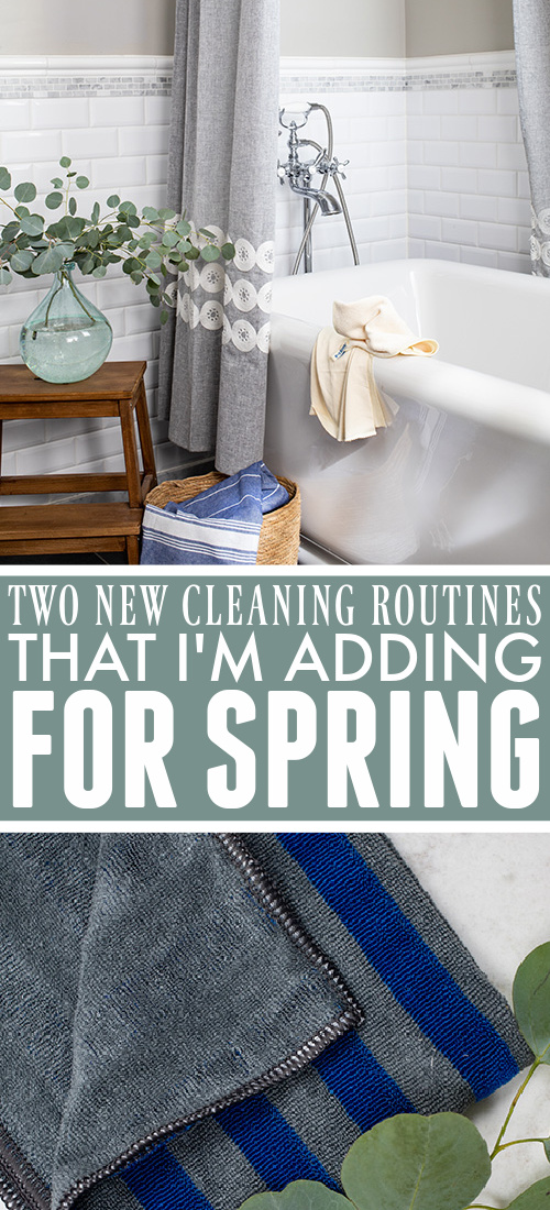 Today I'm sharing two really simple new cleaning routines that I've added to my days in preparation for spring!
