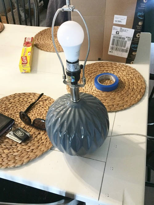 Spray Painting Lamps