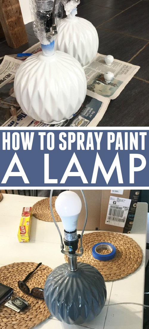 Spray paint to the rescue again! Here's how to spray paint a lamp if you like the shape of a lamp you have, but not the color.
