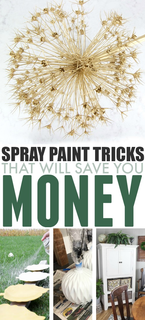 One of the best tools that you can have in your home decor arsenal is a few trusty cans of spray paint. Here are some of my favourite spray paint tricks that will save you money!