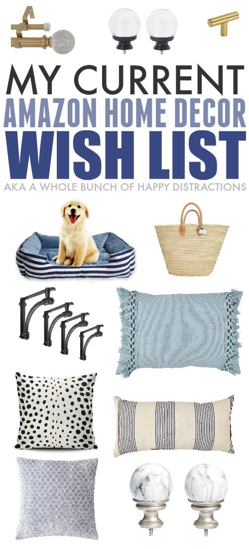 Sharing what's currently on my Amazon wish list today, just for fun. :) It's mostly pillows and other home decor items and it's all super affordable!