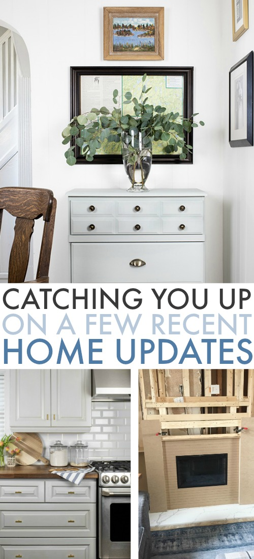 I just thought I'd take a moment today and get you updated on a few little things we've been working on around the house. Here's how our most recent home updates have been going!