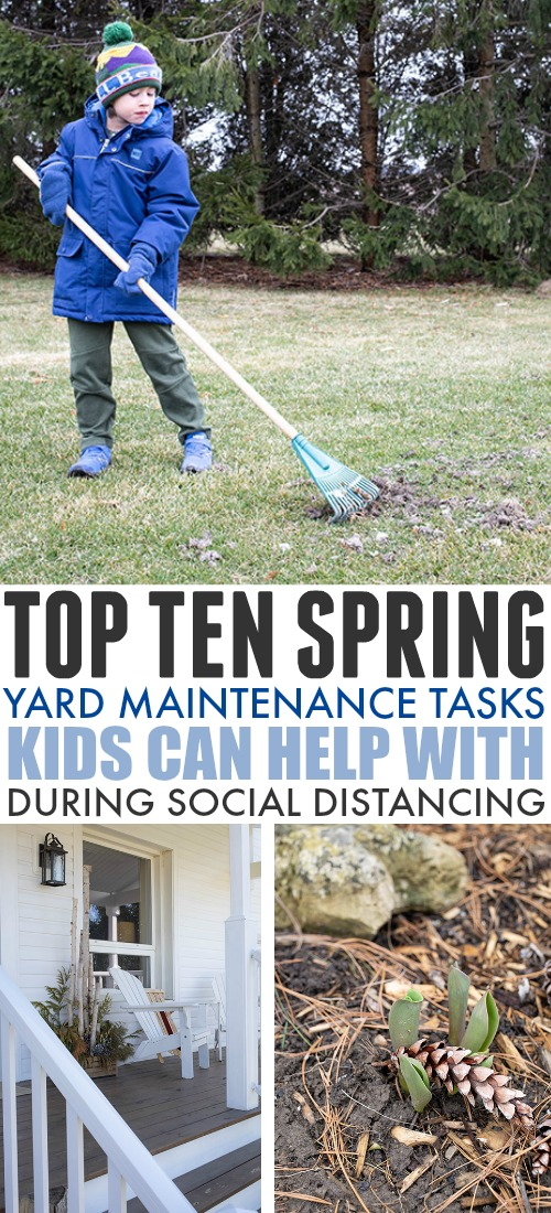 It's time to get out and clean the yard. These spring maintenance tasks are both necessary and great activities for kids. Discover these 10+1 tasks.