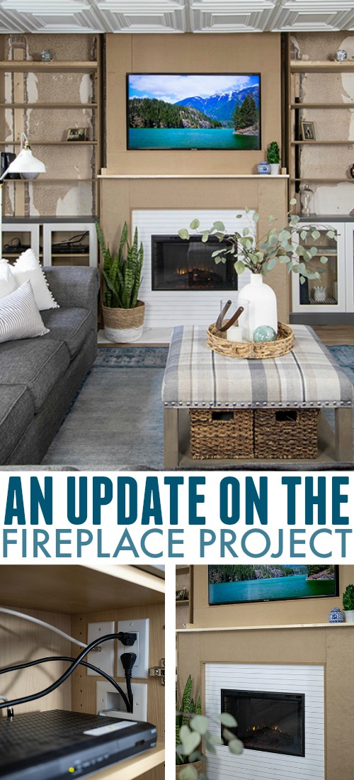 More progress to report to you today with the fireplace project! Progress hasn't been quick by any means, but we're still moving forward and that's something to celebrate. :)
