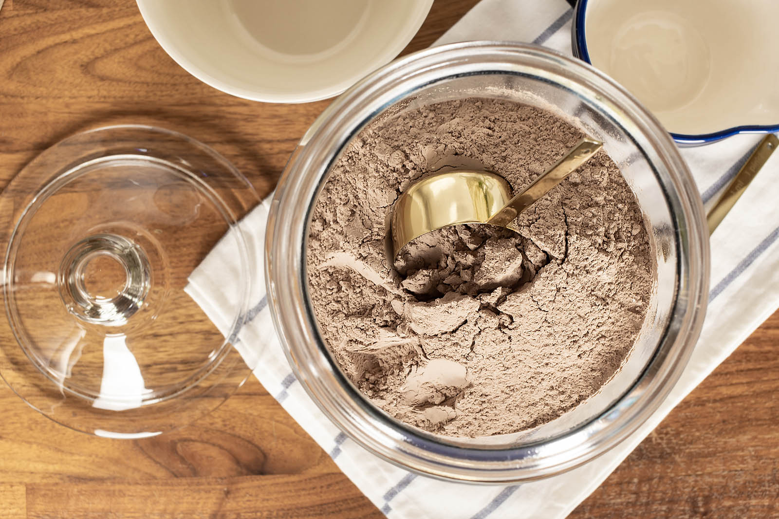 This homemade chocolate cake mix recipe can be made to replace a cake mix when you need one for a recipe, or you can multiply it to make a big batch so you'll have it on hand so you can make chocolate cake in a snap.