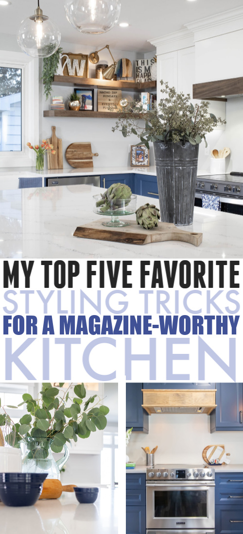 In today's post I'm sharing a few little tricks I've picked up to make a kitchen look like it's straight out of a magazine! Here's how I style a magazine-worthy kitchen.