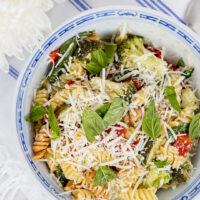 Creamy Plant-Based Summer Veggie Pasta