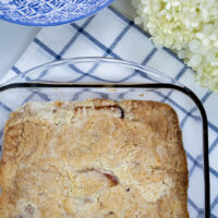 Three Ingredient Peach Cobbler Recipe (Plant-Based Version)