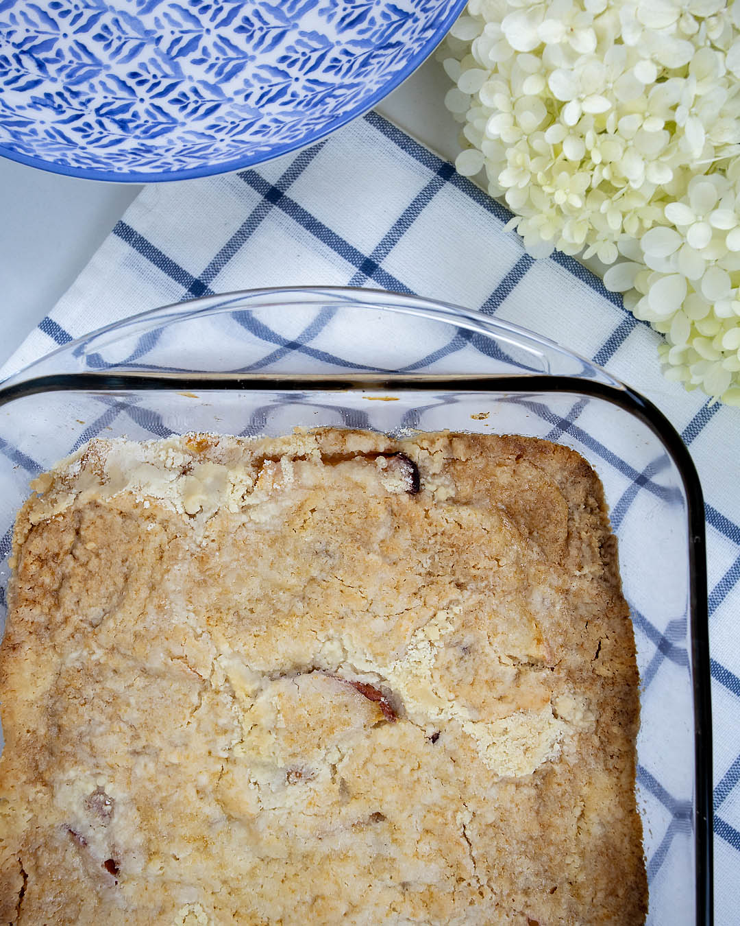 Try this super simple three ingredient peach cobbler to take advantage of all those fresh peaches you've been picking at the orchard this summer!