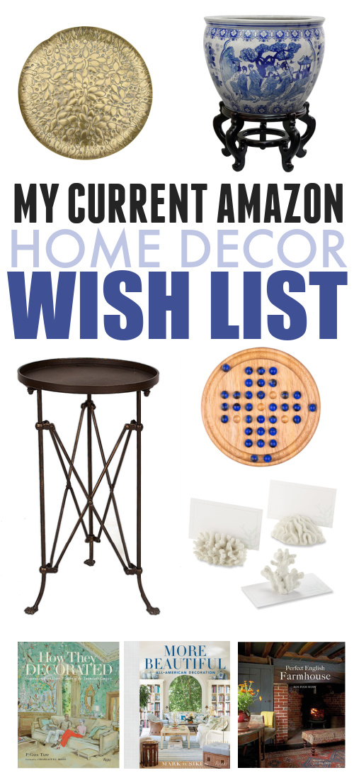 My Amazon shopping cart has gotten to be pretty full again with all kinds of fun finds, so I thought I'd share what has been catching my eye lately. Here's my current Amazon home decor wishlist!